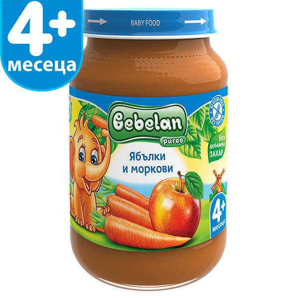 Овко Бебешко пюре /Ябълка, морков + вит.С/ 4 м + 190 гр.